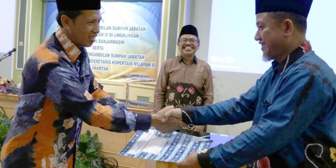 Serah Terima Jabatan dan Pelantikan Wakil Koordinator Kopertais XI Kalimantan